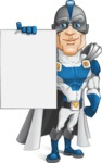 Retired Superhero Cartoon Vector Character AKA Space Centurion - Presentation 2
