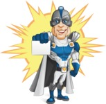 Retired Superhero Cartoon Vector Character AKA Space Centurion - Shape 6