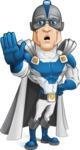 Retired Superhero Cartoon Vector Character AKA Space Centurion - GoodBye