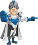 Retired Superhero Cartoon Vector Character AKA Space Centurion - Angry 2