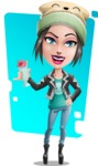 Cute Teenage Girl Cartoon Vector Character AKA Dixie - Shape 8