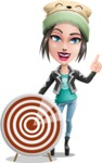 Cute Teenage Girl Cartoon Vector Character AKA Dixie - Target