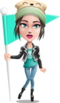 Cute Teenage Girl Cartoon Vector Character AKA Dixie - Checkpoint