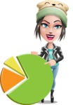 Cute Teenage Girl Cartoon Vector Character AKA Dixie - Chart