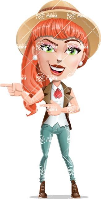 Cartoon Adventure Girl Cartoon Vector Character - Point 2