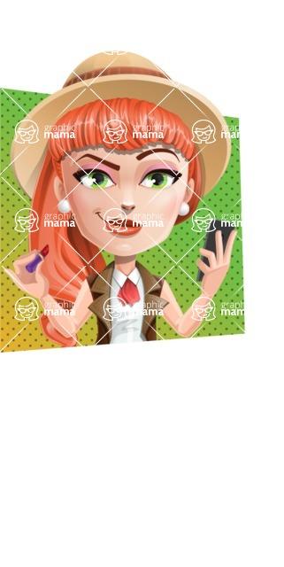 Cartoon Adventure Girl Cartoon Vector Character - Shape 3