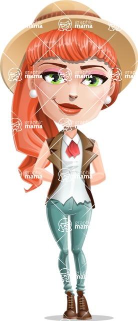 Cartoon Adventure Girl Cartoon Vector Character - Patient