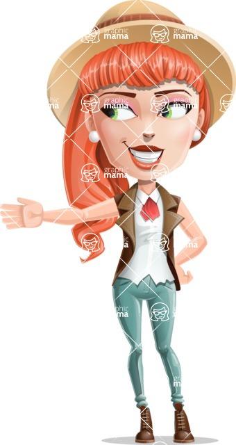 Cartoon Adventure Girl Cartoon Vector Character - Show 1