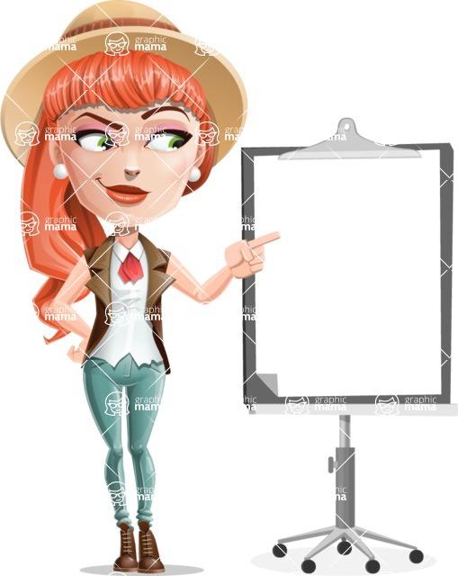 Cartoon Adventure Girl Cartoon Vector Character - Presentation 2