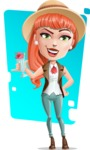 Cartoon Adventure Girl Cartoon Vector Character AKA Adeline - Shape 8