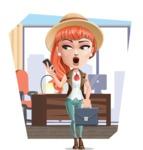 Cartoon Adventure Girl Cartoon Vector Character AKA Adeline - Shape 9