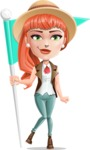 Cartoon Adventure Girl Cartoon Vector Character - Checkpoint
