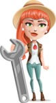 Cartoon Adventure Girl Cartoon Vector Character - Repair