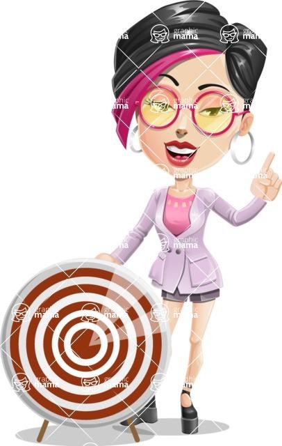 Hipster Girl Cartoon Vector Character AKA Milly - Target