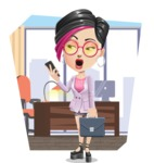 Hipster Girl Cartoon Vector Character AKA Milly - Shape 9