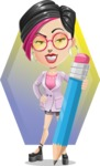 Hipster Girl Cartoon Vector Character AKA Milly - Shape 12