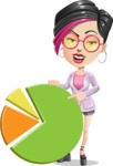 Hipster Girl Cartoon Vector Character AKA Milly - Chart