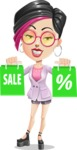 Hipster Girl Cartoon Vector Character AKA Milly - Sale 1