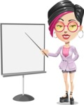 Hipster Girl Cartoon Vector Character AKA Milly - Presentation 1