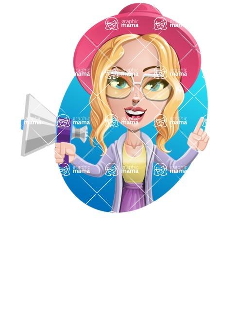 Stylish Girl Cartoon Vector Character AKA Fifi - Shape 4