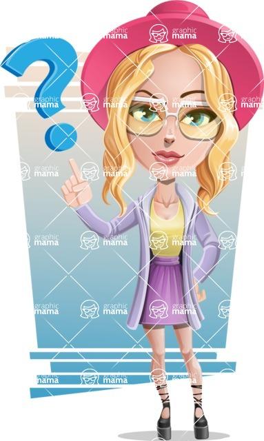 Stylish Girl Cartoon Vector Character AKA Fifi - Shape 6