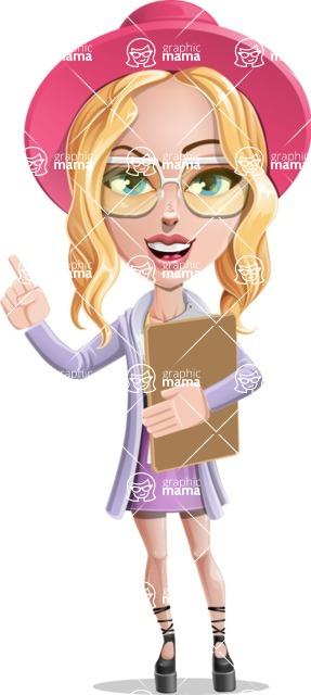 Stylish Girl Cartoon Vector Character AKA Fifi - Notepad 1