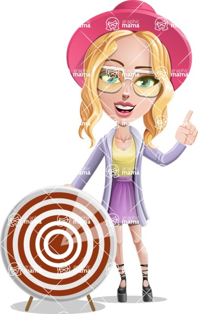 Stylish Girl Cartoon Vector Character AKA Fifi - Target