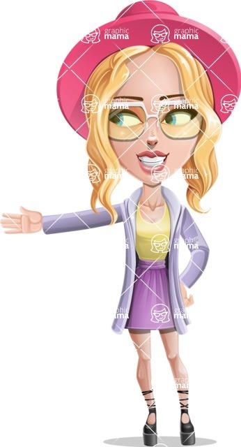 Stylish Girl Cartoon Vector Character AKA Fifi - Show 1