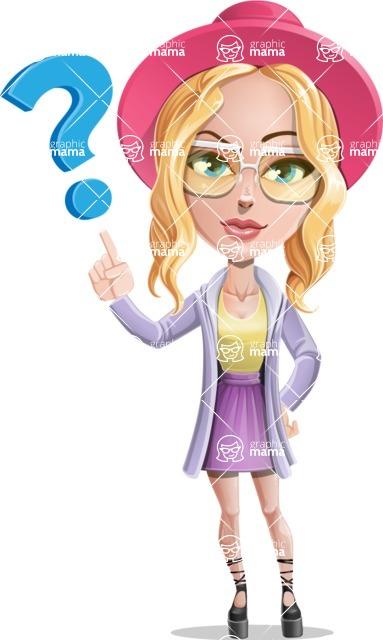 Stylish Girl Cartoon Vector Character AKA Fifi - Question