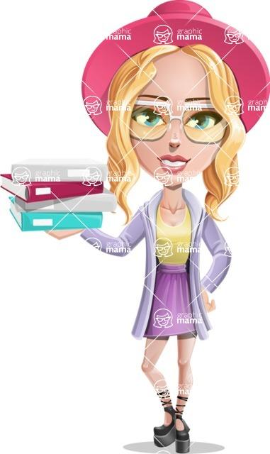Stylish Girl Cartoon Vector Character AKA Fifi - Book 1