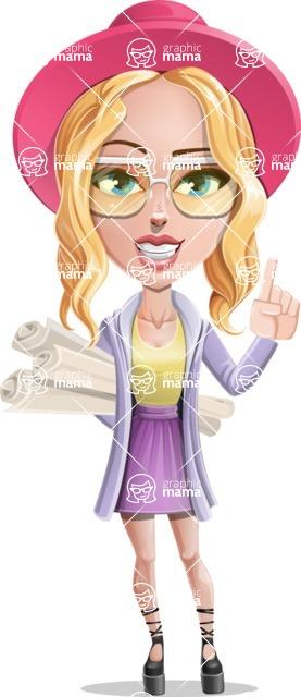 Stylish Girl Cartoon Vector Character AKA Fifi - Plans