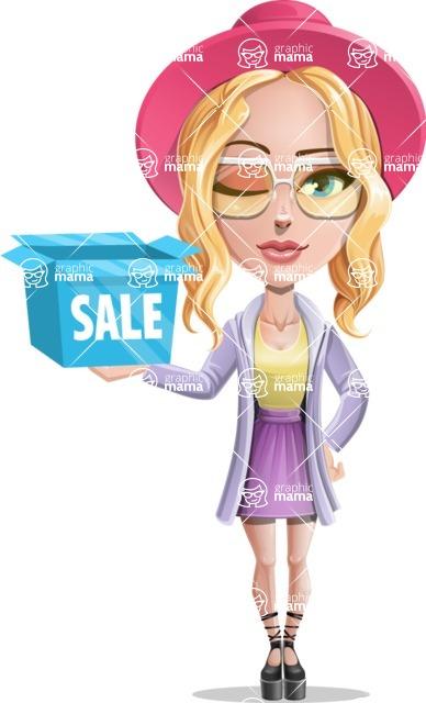 Stylish Girl Cartoon Vector Character AKA Fifi - Sale 2