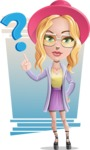 Stylish Girl Cartoon Vector Character AKA Fifi - Shape 6