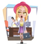Stylish Girl Cartoon Vector Character AKA Fifi - Shape 9
