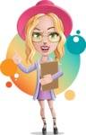 Stylish Girl Cartoon Vector Character AKA Fifi - Shape 11