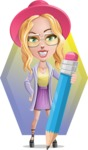 Stylish Girl Cartoon Vector Character AKA Fifi - Shape 12