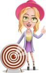 Stylish Girl Cartoon Vector Character AKA Fifi - Target