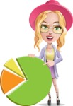 Stylish Girl Cartoon Vector Character AKA Fifi - Chart