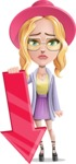 Stylish Girl Cartoon Vector Character AKA Fifi - Arrow 3