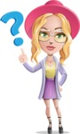 Stylish Girl Cartoon Vector Character AKA Fifi - Question
