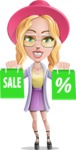 Stylish Girl Cartoon Vector Character AKA Fifi - Sale 1