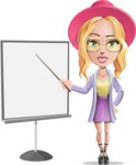Stylish Girl Cartoon Vector Character AKA Fifi - Presentation 1
