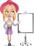 Stylish Girl Cartoon Vector Character AKA Fifi - Presentation 2
