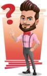 Man with Bow Tie Cartoon Vector Character - Shape 6