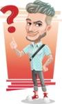 Attractive Man with Tattoos Cartoon Vector Character AKA Kane - Shape 6