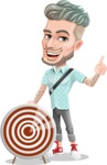 Attractive Man with Tattoos Cartoon Vector Character AKA Kane - Target