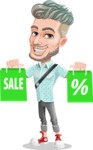 Attractive Man with Tattoos Cartoon Vector Character AKA Kane - Sale 1