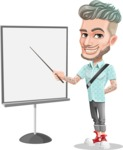 Attractive Man with Tattoos Cartoon Vector Character AKA Kane - Presentation 1