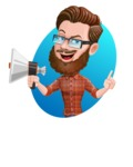 Cartoon Man dressed as Lumberjack Vector Character Illustrations - Shape 4
