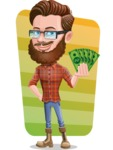 Cartoon Man dressed as Lumberjack Vector Character Illustrations - Shape 5